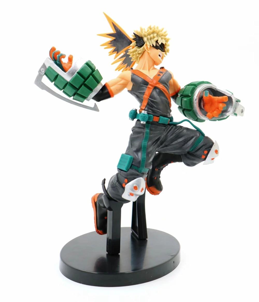 14cm mi héroe Academia cero Bakugou Katsuki Midoriya Izuku Todoroki Shoto figuras de acción de juguete de regalo de Navidad muñeca