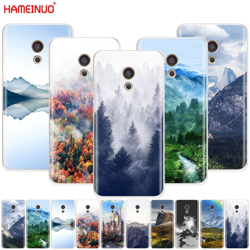 HAMEINUO bosque de montaña nubes cubierta del teléfono para el Meizu M6 M5 M5S M2 M3 M3S MX4 MX5 MX6 PRO 6 5 U10 U20 nota plus