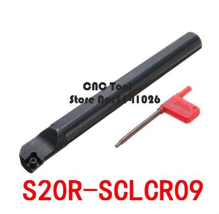 Barra de perforación CNC S20R-SCLCR09/S20R-SCLCL09, herramienta de torneado, herramientas de torneado interno, portaherramientas, herramienta de corte de torno para CCMT09T304/08
