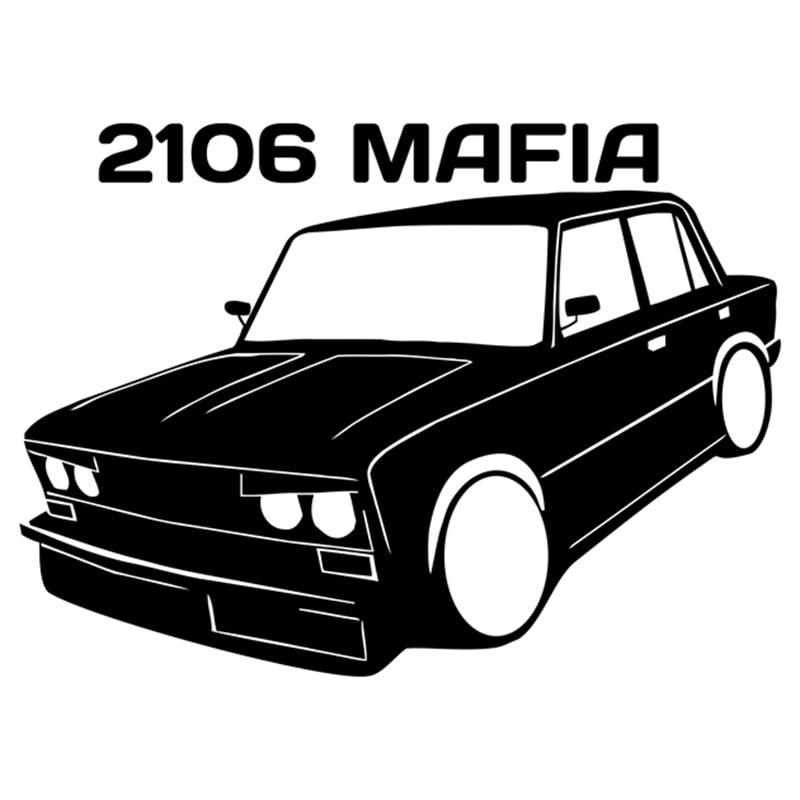CS-1315#19*14cm 2106 MAFIA V2 funny car sticker vinyl decal silver/black for auto car stickers styling