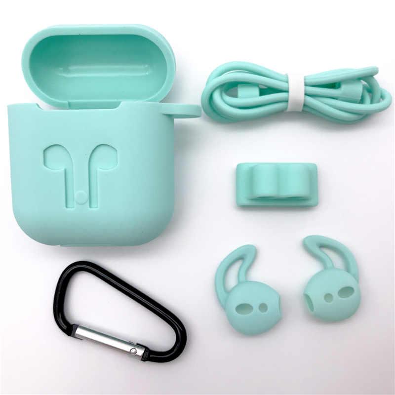 CALETOP, funda de silicona blanda 5 en 1 para Airpods, funda protectora para auriculares Airpod KD10 i10 V8 I12 TWS