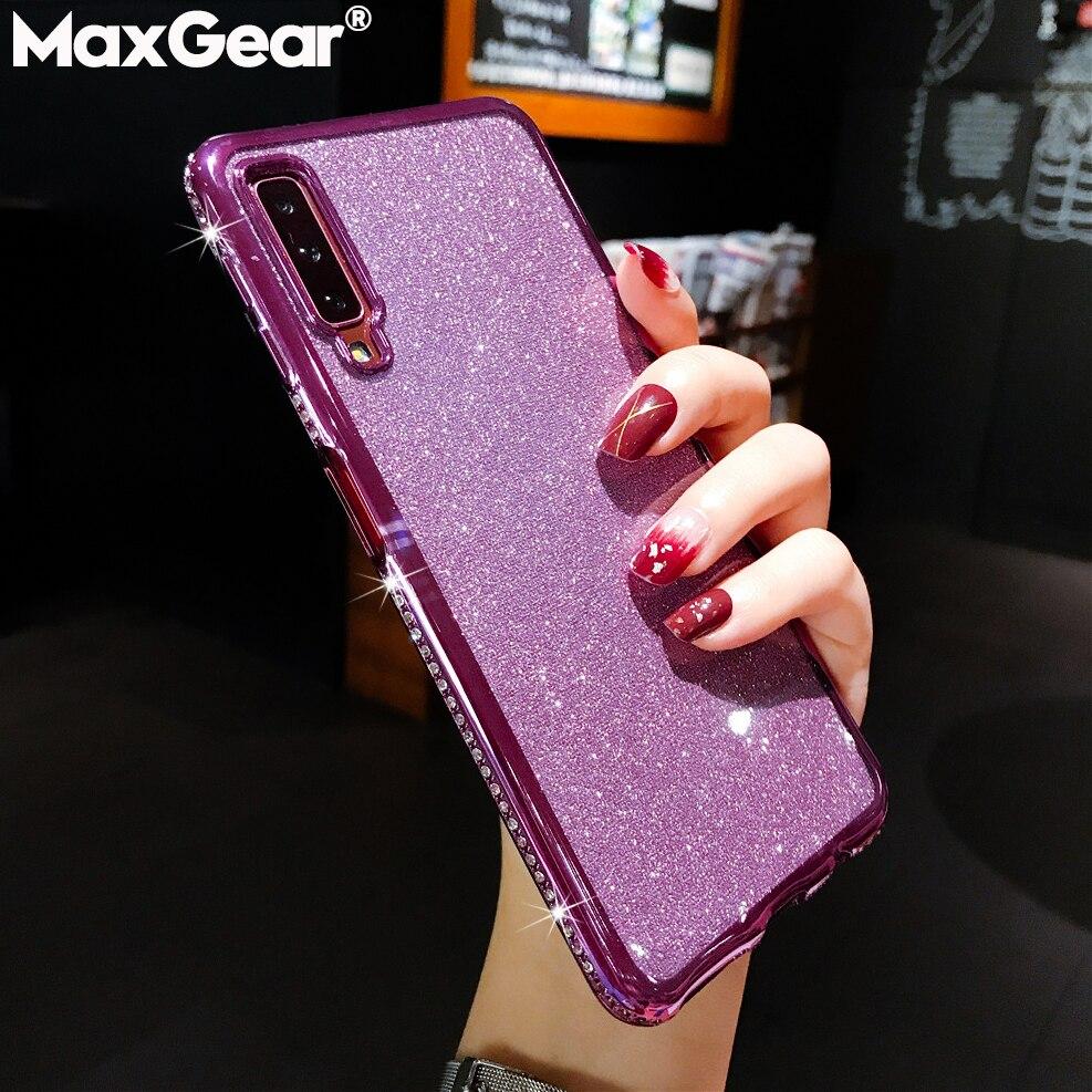 Lujo Bling brillo fundas de diamantes de imitación para Xiaomi Redmi Nota 5 7 Mi 6 Pro Plus 6X 6A 8 9 SE Lite A2 Mix Max 3 jugar Diamond