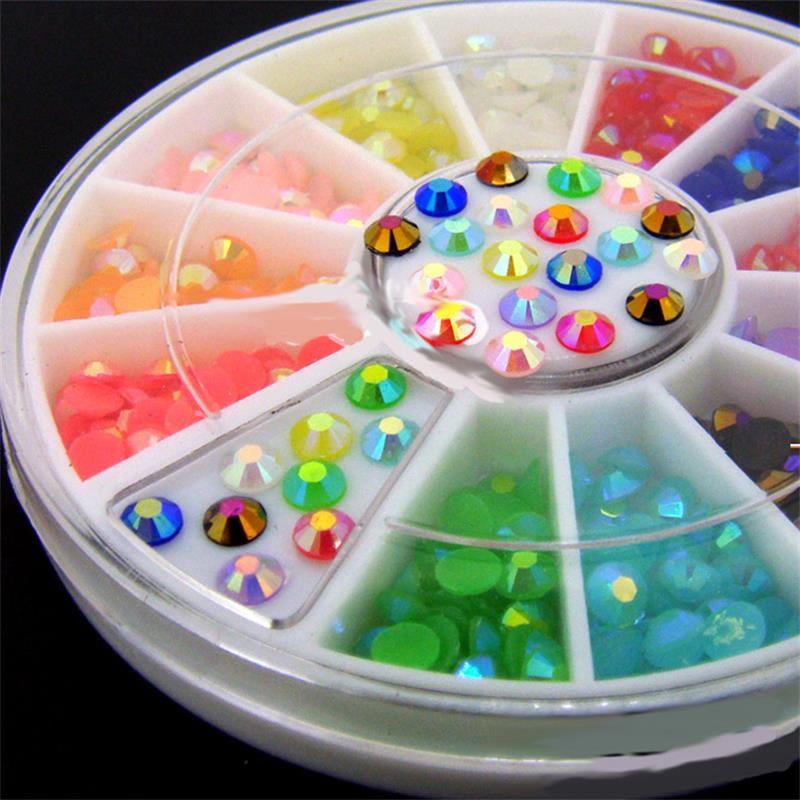 Uñas DIY mezclar colores 3mm AB jalea de cristal de acrílico brillo uñas de herramientas de decoración de uñas