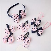 Ensemble, 7 pièces, bandeau pour bébé avec nœud fleur, accessoires pour cheveux, vente en gros