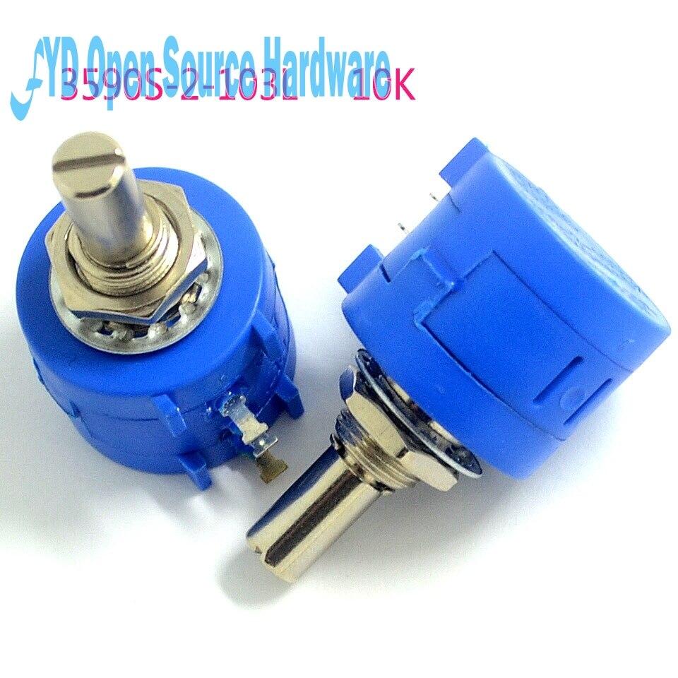 5 unids/bolsa 3590S-2-103L 3590S 10K ohm precisión multivuelta