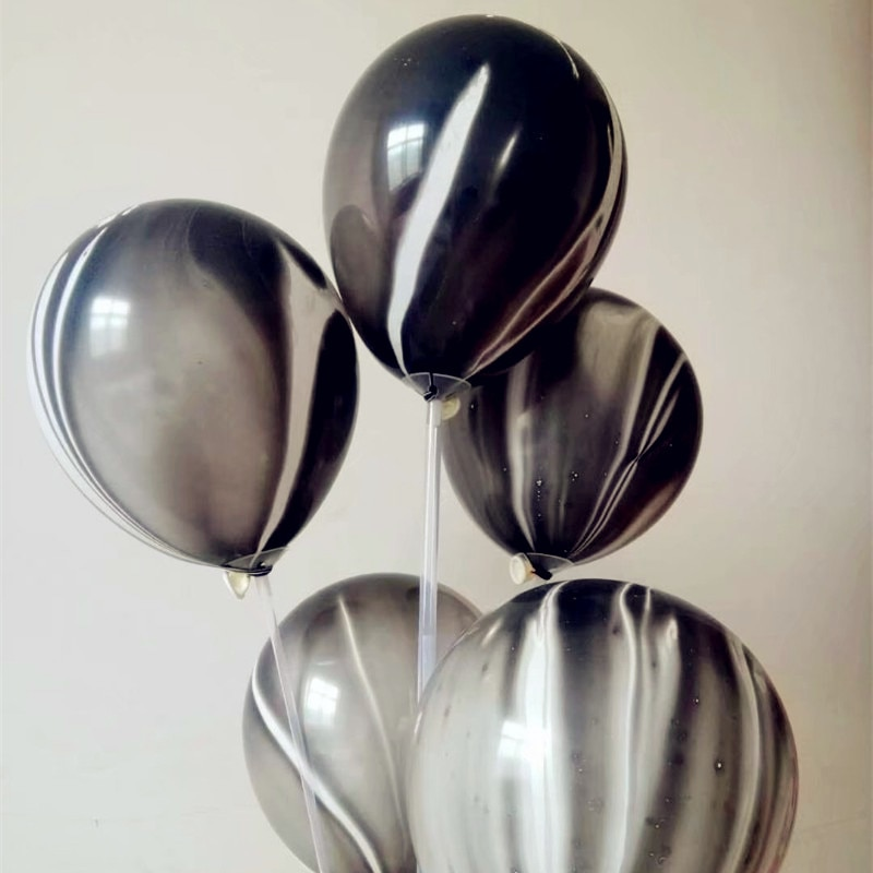 Black balloons 30pcs/lot12 inch thick round agate balloon wedding decoration birthday party ballon baby shower