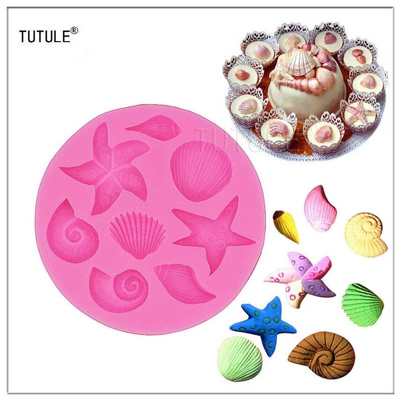 Гаджеты-морские звезды морские ракушки силиконовая форма помадка Шоколадные конфеты торт кекс украшение для печенья