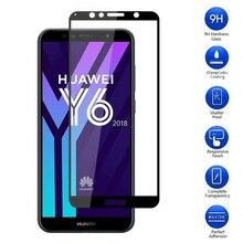 9H couverture complète verre trempé pour HUAWEI Honor 7A Pro AUM-AL29 Y6 2018 ATU-LX1 7C AUM-L41 5.7 pouces RU étui protecteur décran