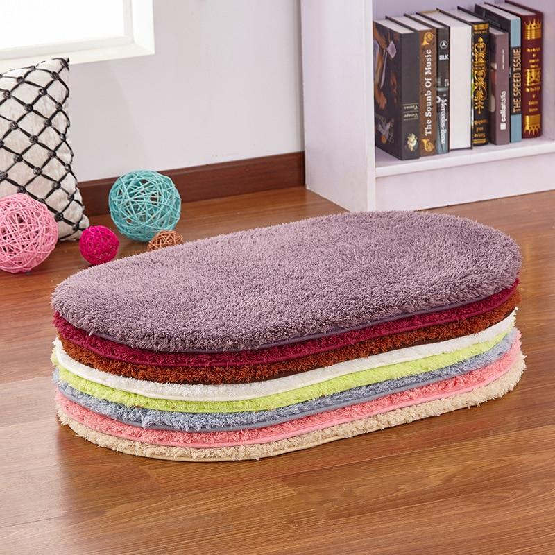 Alfombra de felpa antideslizante para baño tapetes de puertas para exterior, Felpudo de cocina, felpudo suave absorbente para baño, alfombras para sala de estar