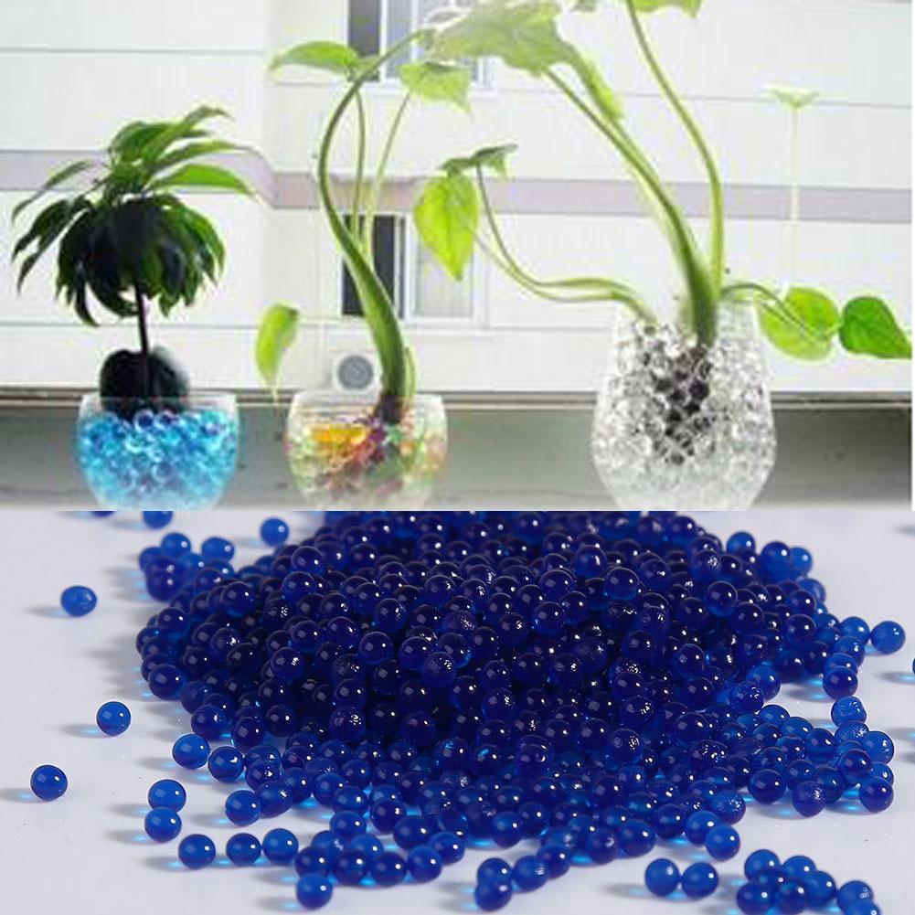 1000 Uds cristal suelo hidrogel Gel polímero agua perlas flor/boda/decoración Maison Growing Bola De Agua decoración grande azul