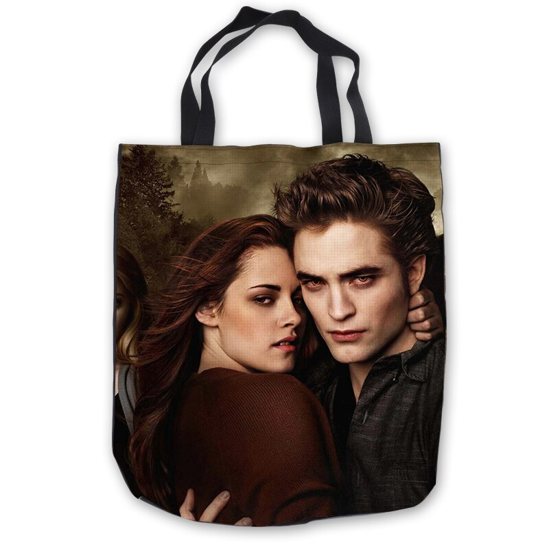 Lona personalizada crepúsculo bolsos grandes bolsos bolsa de compras Casual playa bolsos Casual 180713-1-08