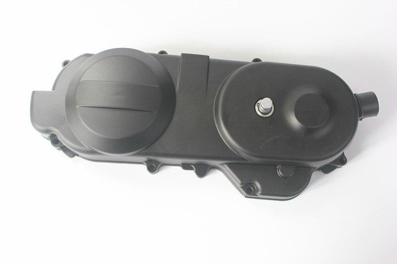 49cc 50cc cárter cubierta de Motor de caja larga Motor izquierdo GY6 Scooter QMB139 ciclomotor 400mm + Diente de arranque + resorte