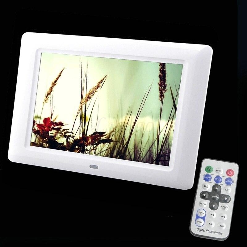 Marco de fotos Digital de 7 pulgadas con función completa, marco de fotos electrónico, Porta Retrato, regalo perfecto para bodas, bebés y padres