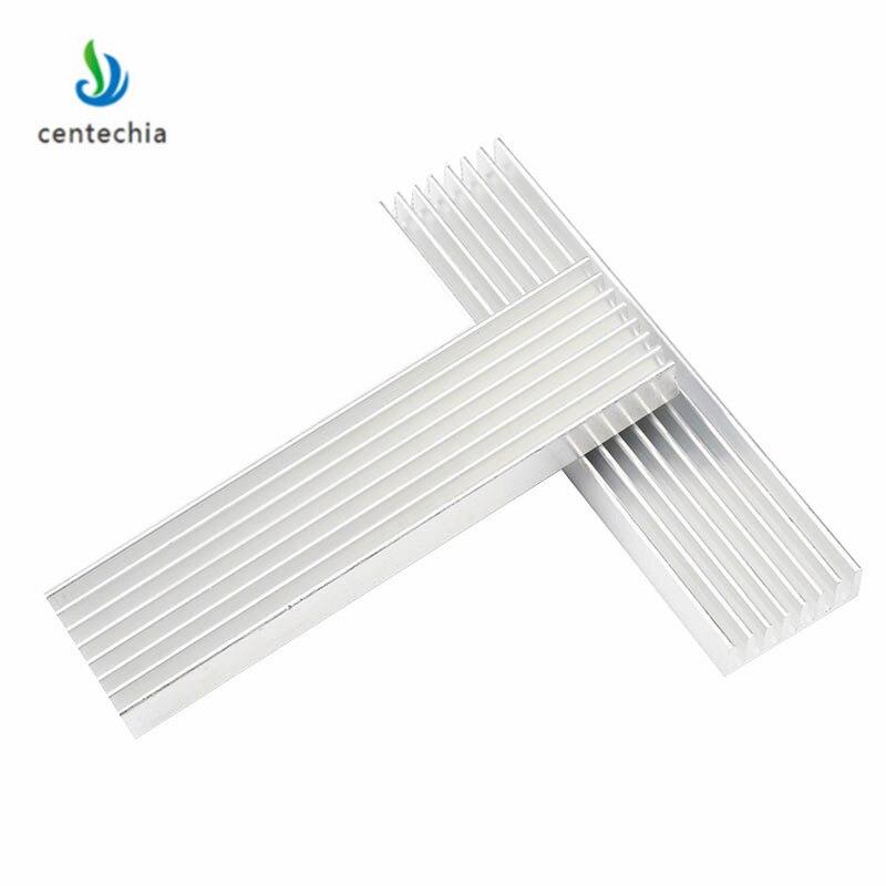 Прочный Серебряный алюминиевый радиатор охлаждения с радиатором 100*25*10 мм для светодиодных транзисторов электрорадиатора