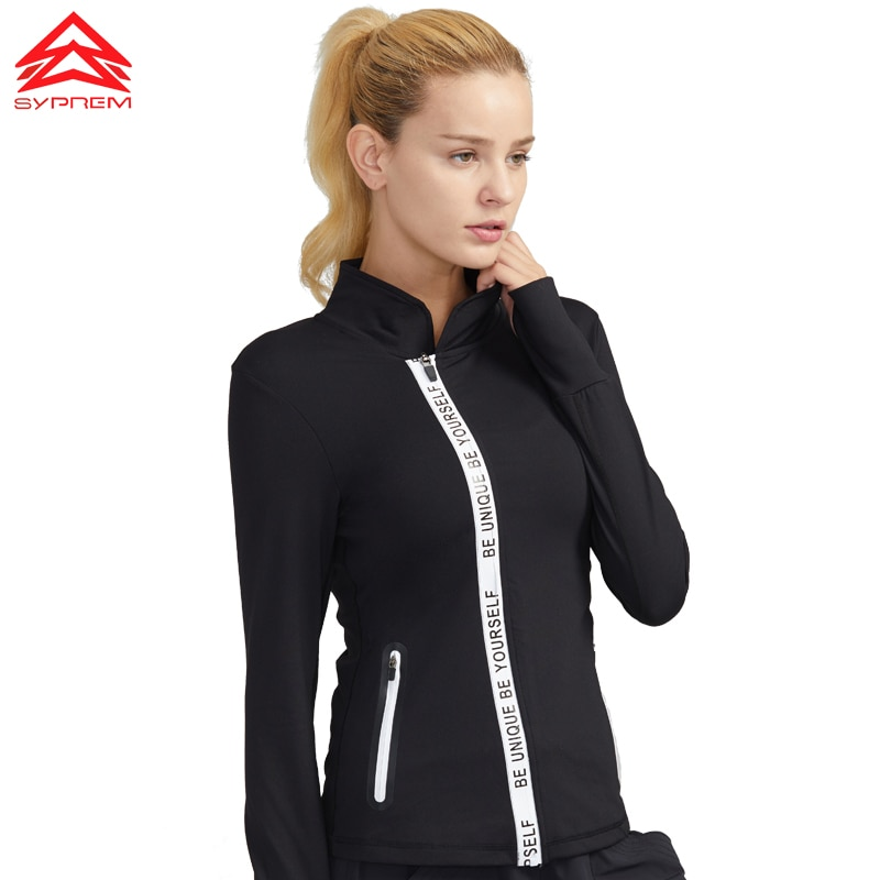 Syprem, chaqueta para correr, ropa deportiva, para yoga, para mujer, ejercicio, chaquetas transpirables, abrigo deportivo, chaqueta de entrenamiento, 1FT1041