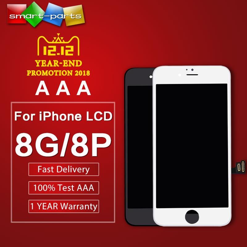 Pantalla lcd de alta calidad AAA 10 Uds. Para iPhone 8 8 PLUS pantalla LCD pantalla táctil digitalizador con buena fuerza táctil 3d
