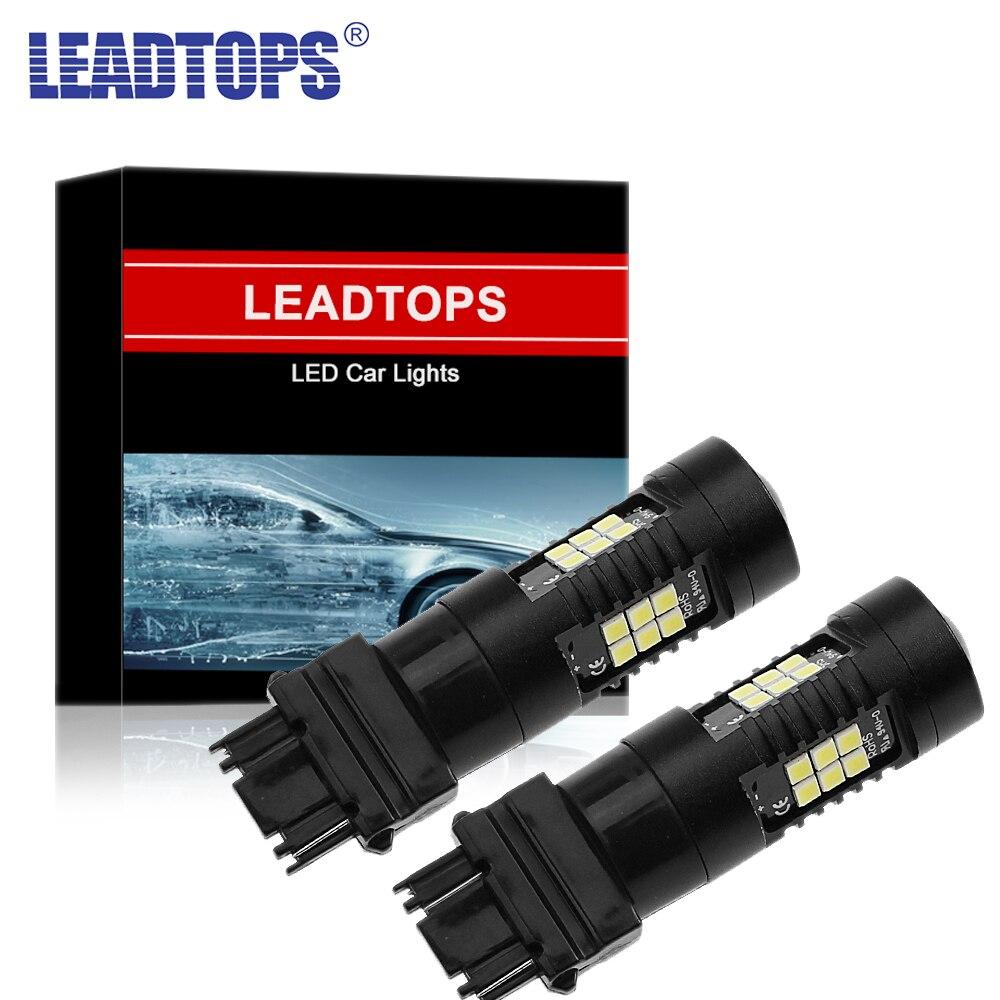 Автомобильные светодиодные лампы LEADTOPS T25 3157 3156, 2 шт., Автомобильные светодиодные лампы DRL 18 SMD, стоп-сигнал заднего хода, стробоскосветильник ...