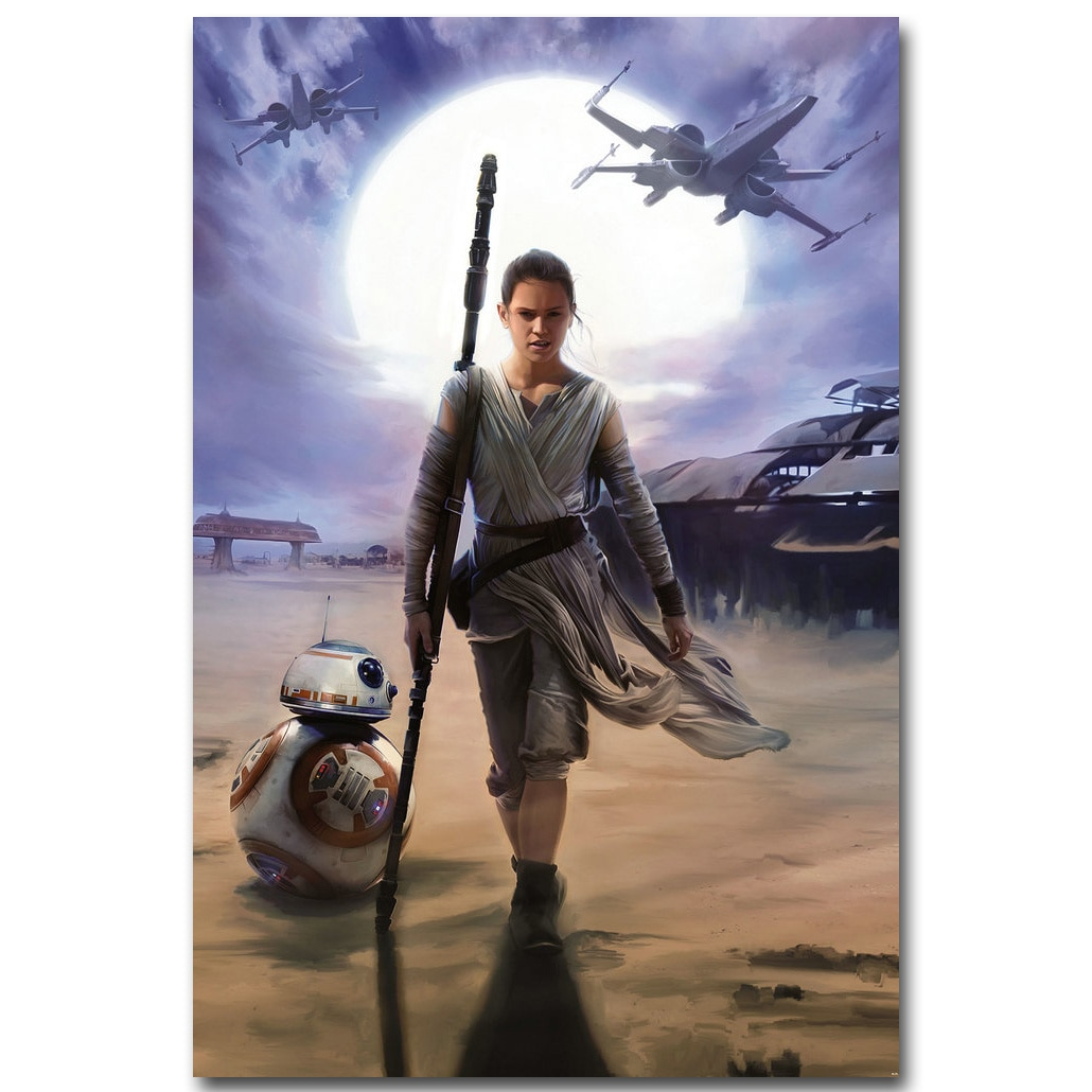 Rey-star Wars 7 el despertar de la fuerza, póster de tela de seda artística con estampado de 13x20 24x36 pulgadas, imagen de película para decoración de pared de habitación 020