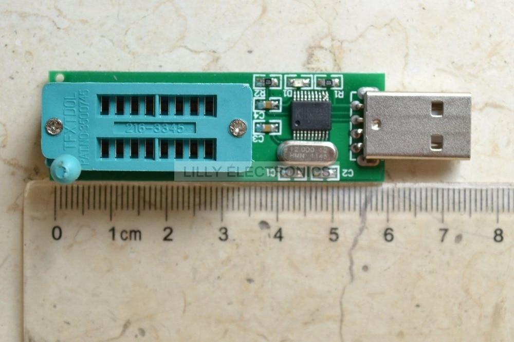 24 cxx 24 LCXX programador EEPROM lector escritor + 24C02 + SOP para bloque DIP Puerto USB