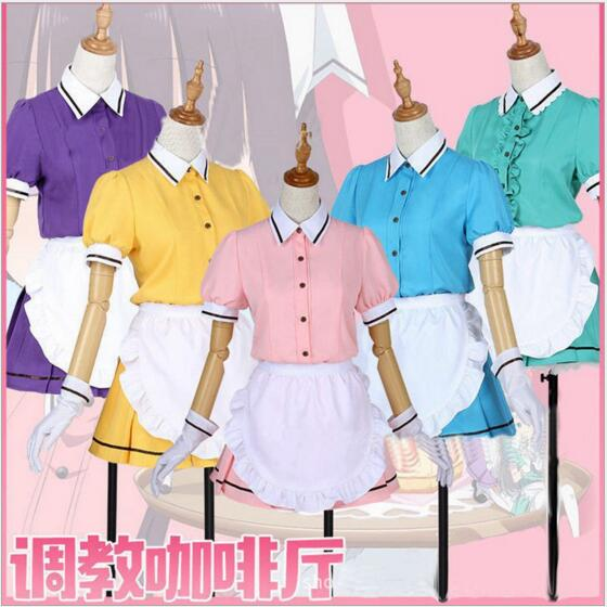 Anime Blend S Cosplay Costume Hinata Kaho/Hideri Kanzaki/Maika Sakuranomiya/Amano Miu/Mafuyu Hoshikawa Maid Apron Dress Uniform
