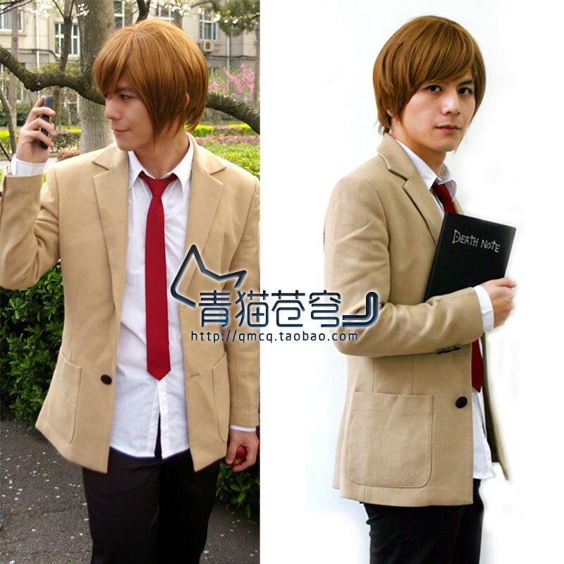 Disfraz de Cosplay de Death Note Light Yagami, uniforme de Escuela Japonesa, traje de Cosplay informal para hombres