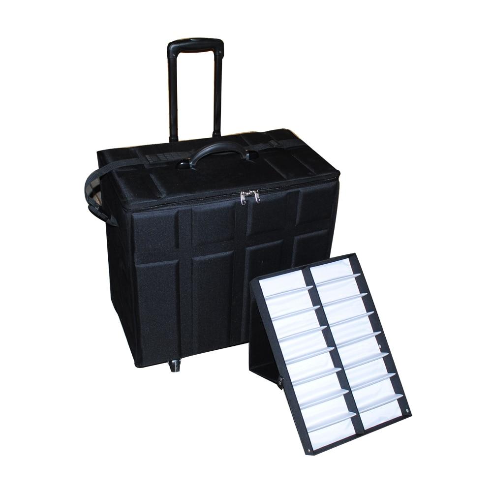 sunglass optical frame EVA suitcase eyeglass storage case display tray for sales representative sample bag telescopic handle