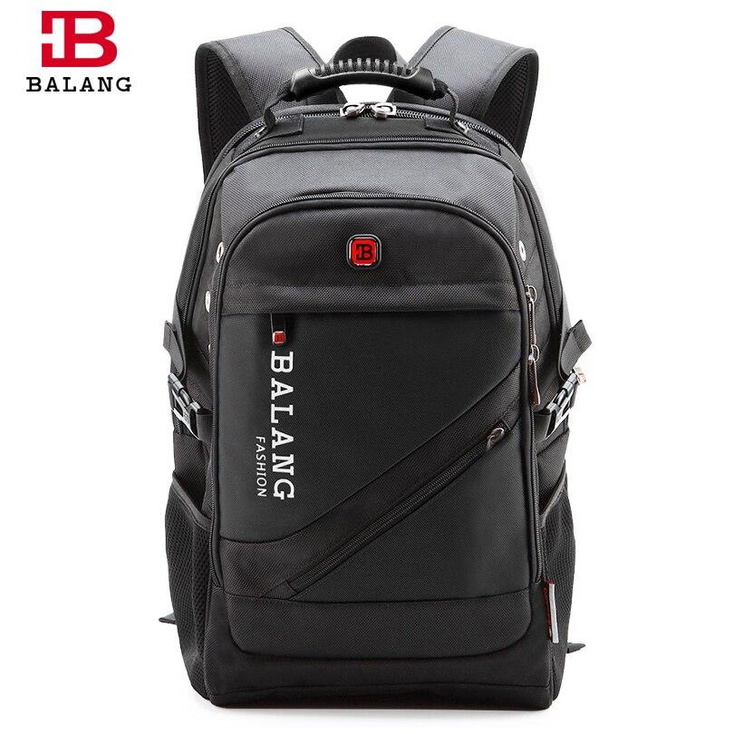 Mochila para ordenador portátil de marca BaLang, bolso de viaje para hombre, bolsas de hombro impermeables para ordenador, mochilas escolares de nailon, mochila de viaje