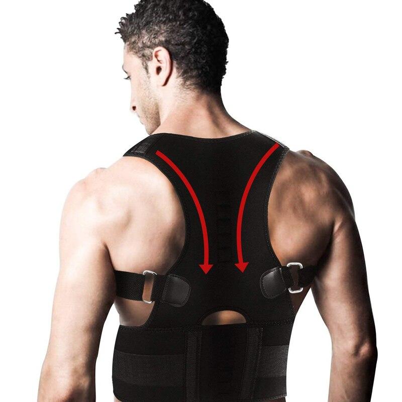 Ajustável volta postura corrector terapia magnética postura corrector cinta ombro volta cinta suporte cinto