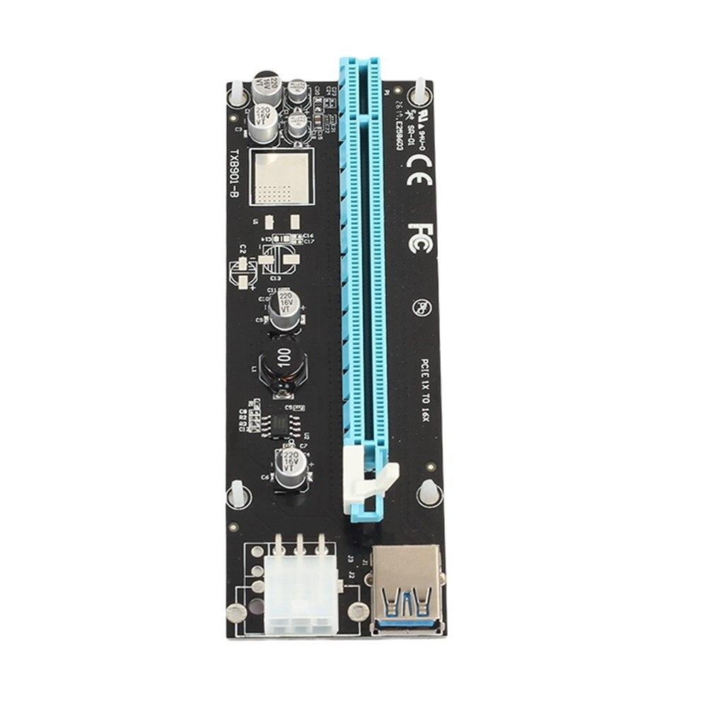 Adapter przedłużający USB 3.0 PCI-E 1X do 16X (6 kondensatorów)