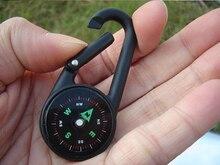 Mini boussole porte-clé lumineux veilleuse porte-clés suspendu bousillons multifonctionnel Camping randonnée métal Zine alliage mousqueton