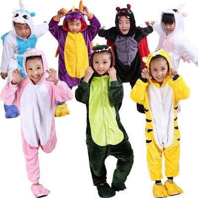 Frete Grátis Bebés Meninos Meninas Pijama Crianças Outono Inverno Flanela animal engraçado Ponto panda Pijama Garoto Onesie Sleepwear