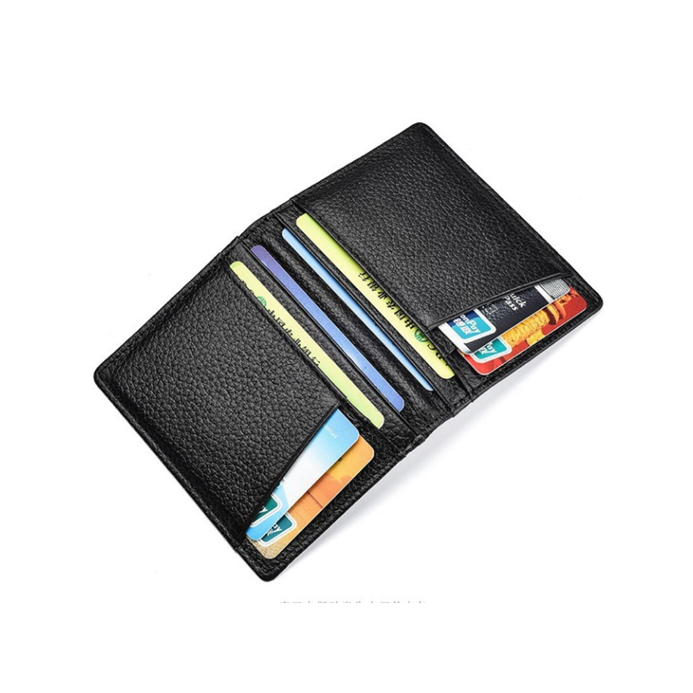 Super Slim Soft Wallet 100% Sheepskin Genuine Leather Mini Credit Card Wallet Purse Card Holders Men
