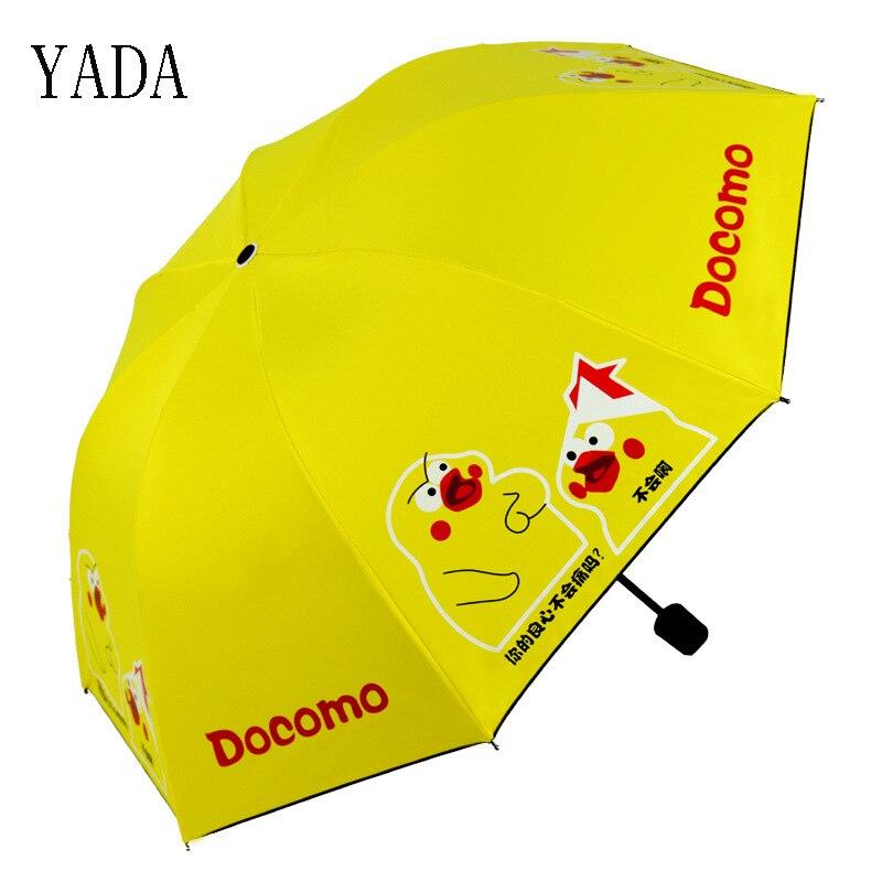 Charme dos Desenhos Guarda-chuva para as Mulheres à Prova uv de Alta Yada Personalizado Animados Frango Dobrável Crianças Chuva Qualidade Vento Pátio Guarda-sóis Ys279
