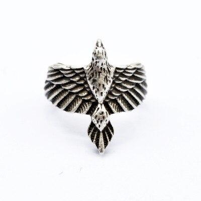 Hermosa Cuervo vikingo anillos talismán águila pájaro anillo para las mujeres los hombres de alta calidad de vikingo Vintage Punk de la nave de la gota