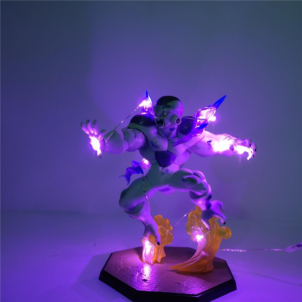 Figurine Dragon Ball Z figurine Frieza Freeza forme finale LED PVC bricolage veilleuse Anime figurines Dragon Ball Super Frieza à collectionner
