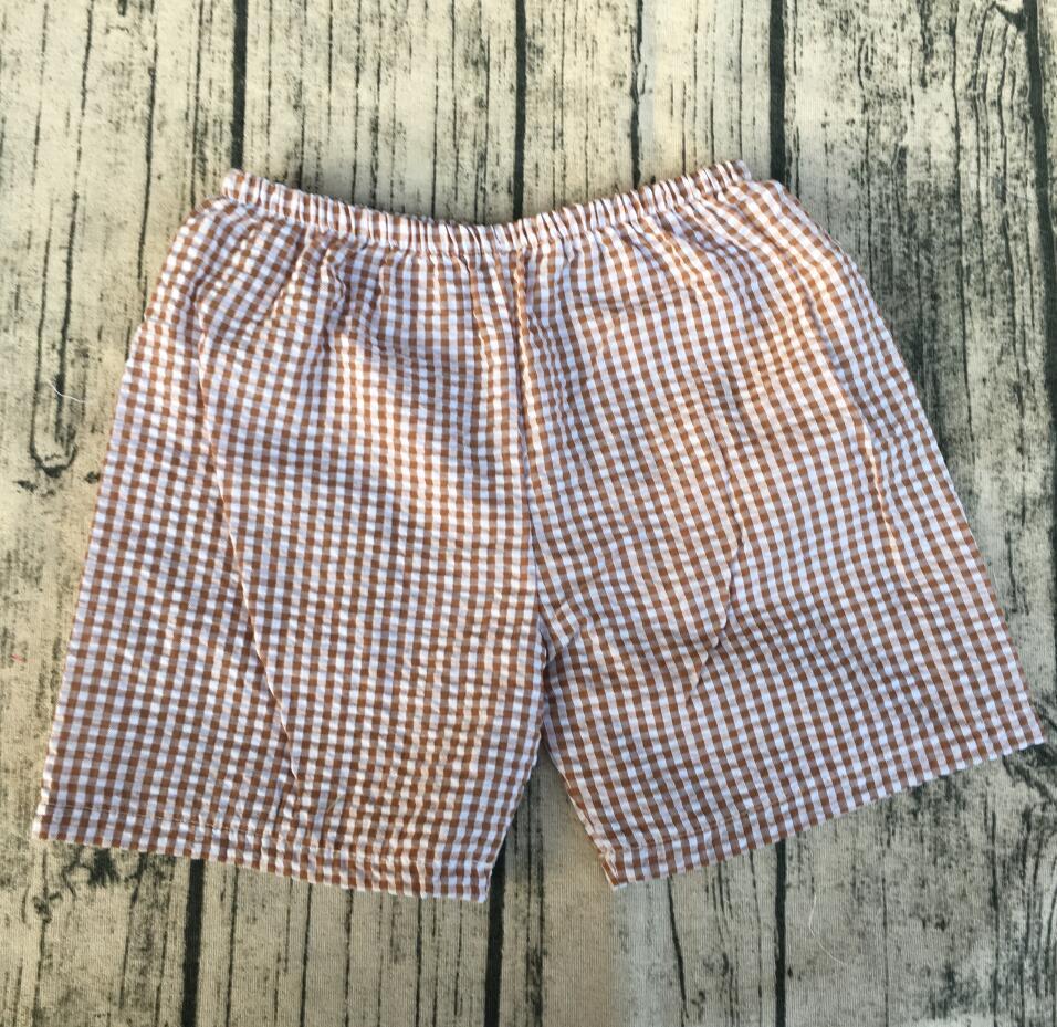 Kids streep katoen seersucker shors candy kleur shorts hot zomer jongens fashion seersucker shorts