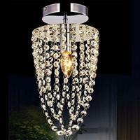 Led Ceiling Light Chrome K9 Modern Crystal Ac 110v-256v Transparent Color Lighting For Home Lustre Ceiling Lamp