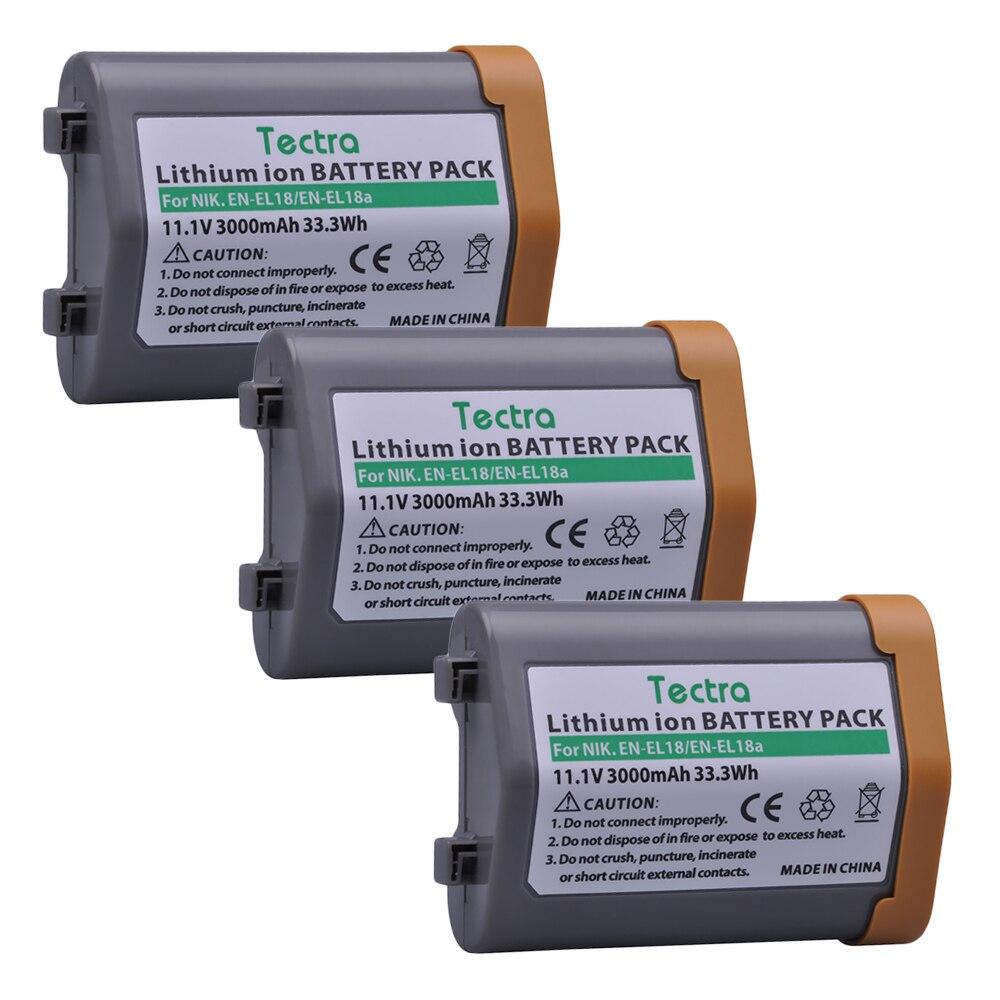 Bateria de 3000mah En-el18a para Câmera para Nikon Tectra Mh-26 en El18a Enel18 El18 Enel18a Bateria En-el18 d5 d4 D4s