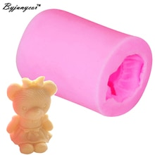 Byjunyeor S082 1 шт., силиконовая форма для девочки-медведя из УФ-смолы, фондана, шоколада, конфет, кристалла, эпоксидная глинистая штукатурка, бетонное мыло в форме свечи