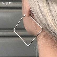 Женские массивные серьги-кольца BLIJERY, большие металлические серьги геометрической формы золотистого/серебристого цвета