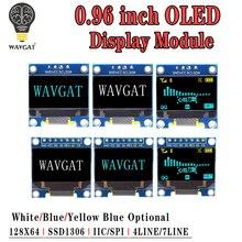"""وحدة عرض OLED IIC مسلسل أبيض 0.96 بوصة 128X64 I2C SSD1306 12864, لوحة شاشة LCD GND VCC SCL SDA 0.96 """"لاردوينو الأسود"""
