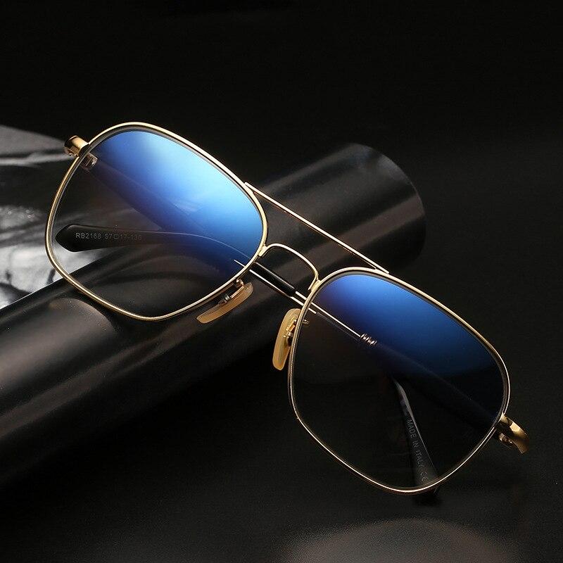 Vazrobe, gafas de sol de cristal, gafas antiarañazos para hombre, protección de los ojos UV400 contra el sol, diseño cuadrado clásico