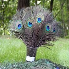 Moda 10 sztuk naturalne Peacock Feather 25-30cm odzież dekoracja upierzenie moda rzemiosło piękne ozdobne Party Decor