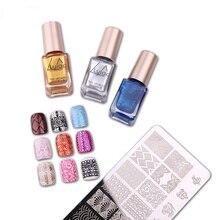 Chaude 12 couleur chatoyante en option estampage vernis à ongles vernis en aérosol timbre vernis à ongles et timbre vernis beauté Nail Art TSLM1