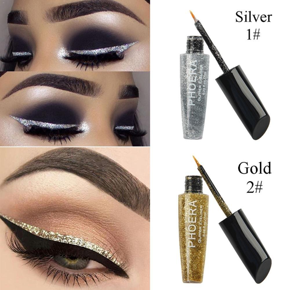 Delineadores de brillo líquido resistentes al agua de larga duración, delineadores de ojos, maquillaje brillante, delineador de ojos de diamante, herramienta de maquillaje de belleza cosmética
