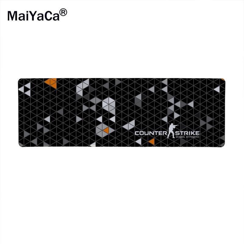 Alfombrilla para ratón Gaming Lingge CS IR en blanco y negro, alfombrilla grande Hiper besta CSGO de 80x30 cm, alfombrilla para ratón gamer jogo AWP CS IR gun