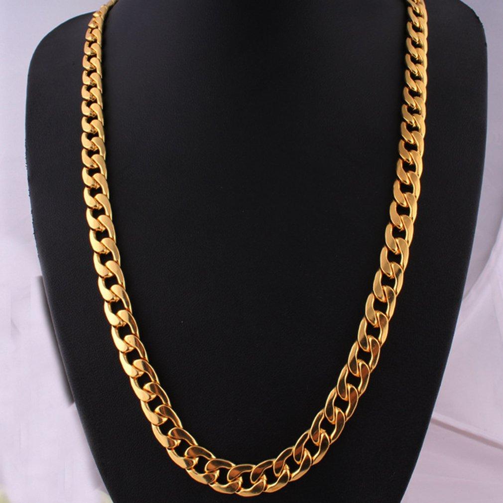 Панк Хип кубинское звено Золотая цепь рэпер мужские ожерелья уличная мода популярная металлическая длинная цепь из сплава декоративные украшения подарок