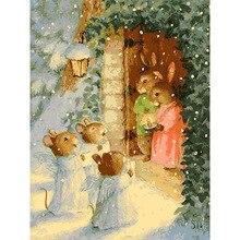 Toile de décoration de mariage tableau artistique   Peinture par numéros, 40x50 50x65cm, félicitation familiale, toile danimal, cadeau idéal pour le bricolage