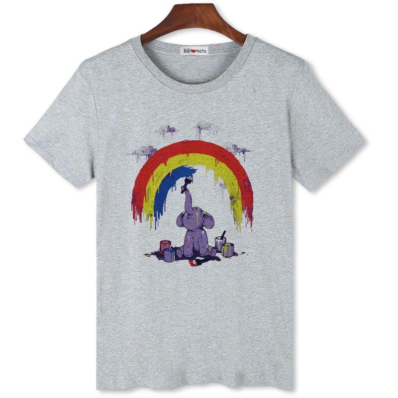 Encantador de BGtomato camiseta del elefante creativo divertido t camisas gran oferta de ropa 2019 dibujos animados poleras hombre hombres camiseta