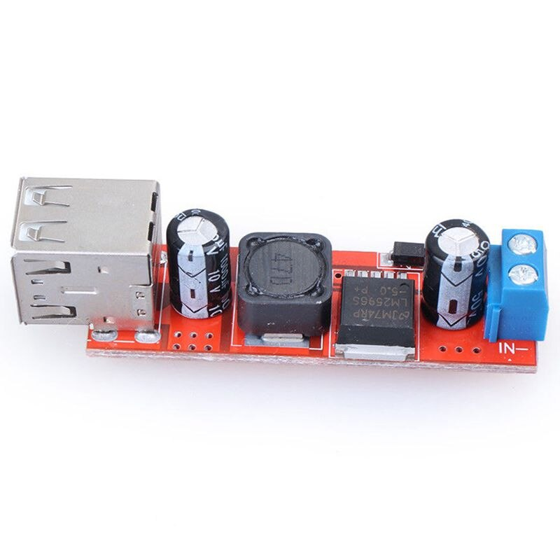 Nuevo convertidor Dual USB 9V/12V/24V/36V a 5V DC-DC módulo de alimentación reductor 3A